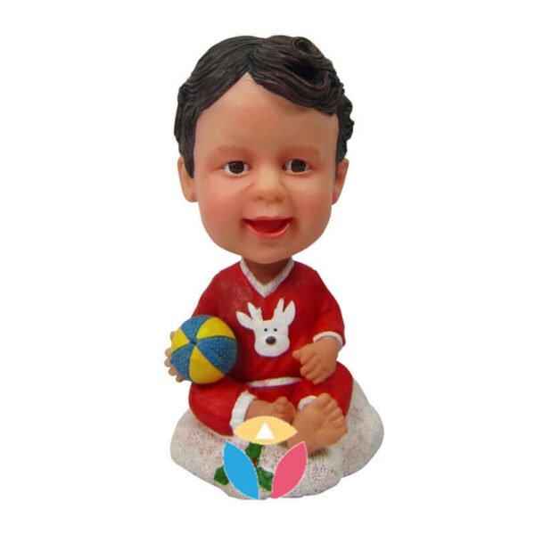 Baby santa custom bobble head