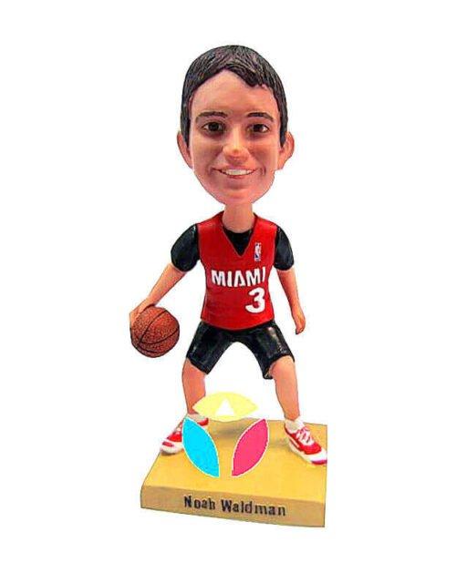 Basketball Player Dribbling Ball bobblehead Doll