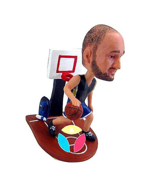 Basketball Player on court Custom Bobblehead Doll