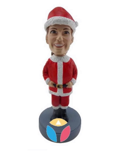 Santa bobble head