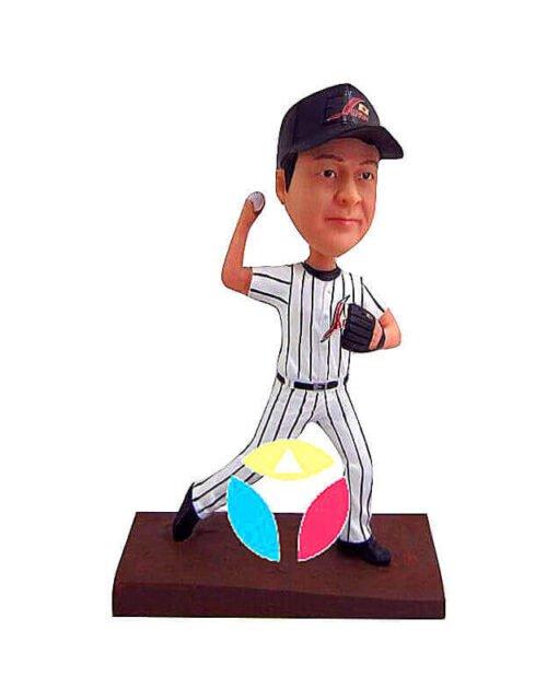 Custom Baseball Pitcher Bobbleheads