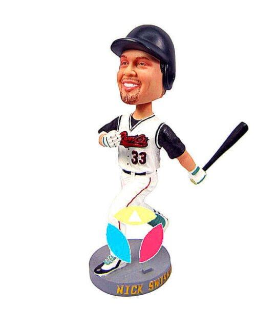 Custom Baseball Player Left Batting Bobblehead Doll