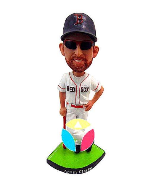 Custom Baseball With Bat bobbleheads