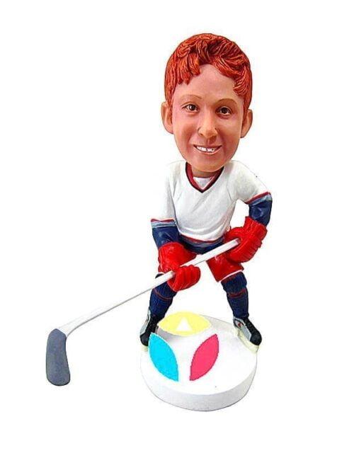 Custom Bobblehead Hockey Defender