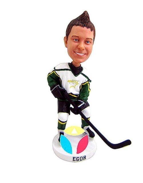 Custom Bobblehead Hockey Face Off