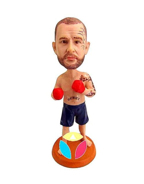 Custom Boxer Ready To Fight Bobblehead