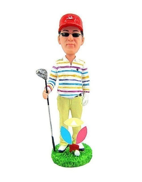 Male Hold The Golf Club Bobbleheads