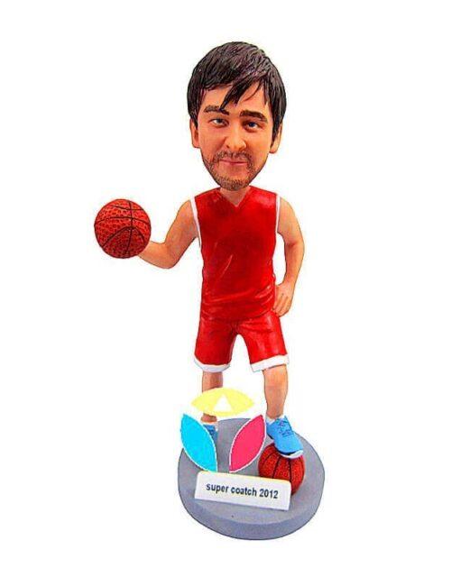 Custom Dribbling Basketball Player Bobblehead Doll