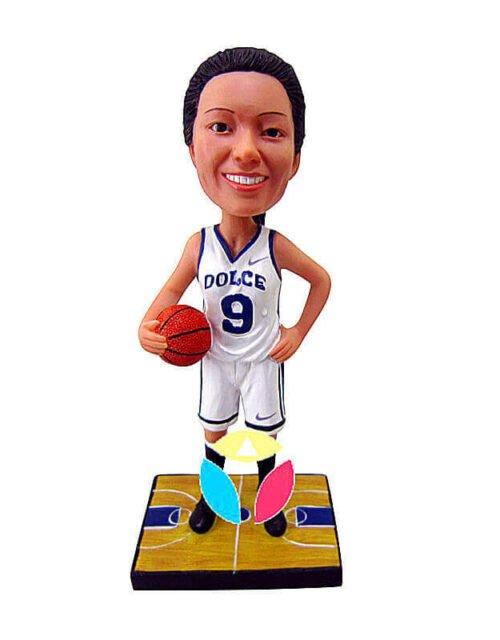 Custom Female Hold Basketball Bobblehead