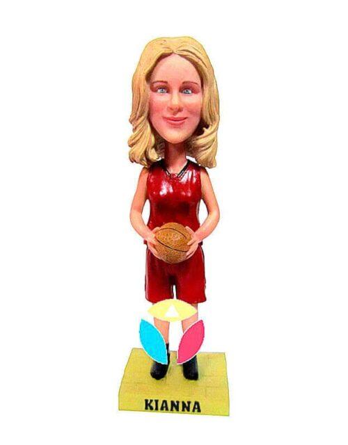 Custom Female Hold Basketball Bobbleheads