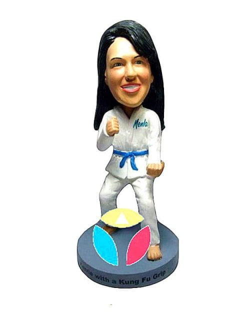 Custom Female Karate Bobblehead Doll