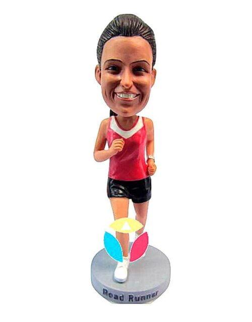 Custom Female Marathon Bobblehead Doll