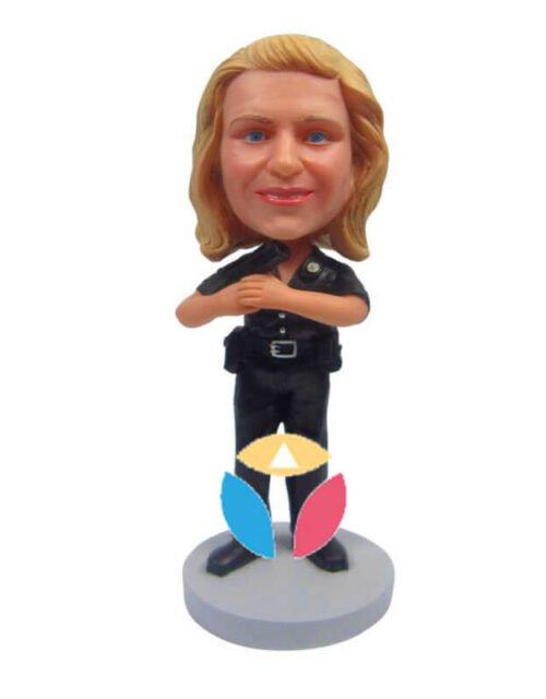 Custom Female Police Bobbleheads