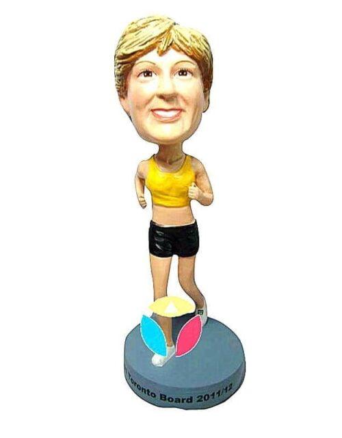 Custom Female Runner In tank Top Bobblehead Doll