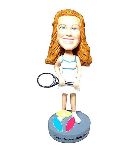 Custom Female Tennist Bobblehead Doll