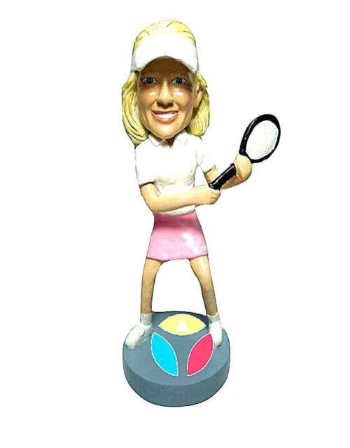 Female Tennist In Skirt