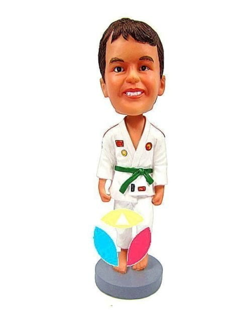 Custom Hand By Sides Karate Bobblehead Doll