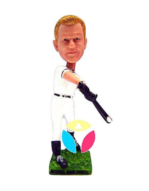 Custom Hitting Baseball Bobblehead Doll