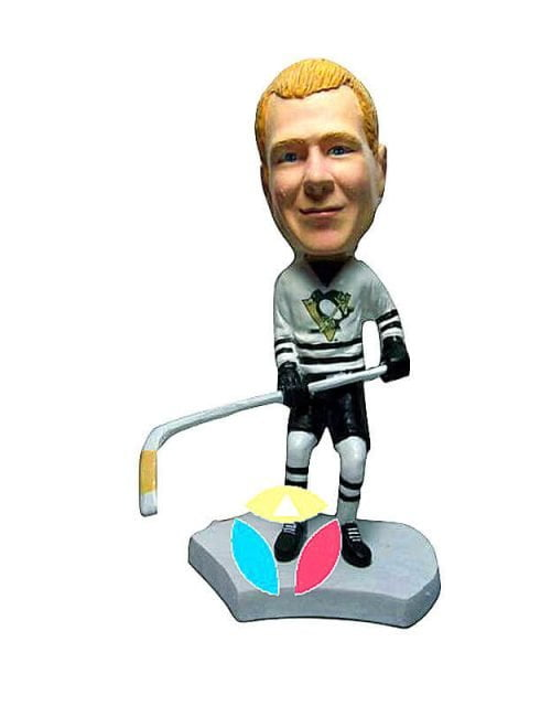 Custom Hockey Defender Bobblehead
