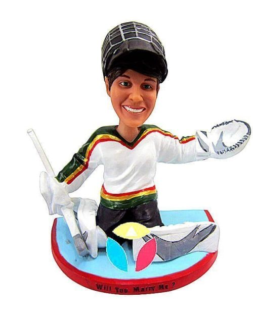 Custom Hockey Defender Bobblehead Doll