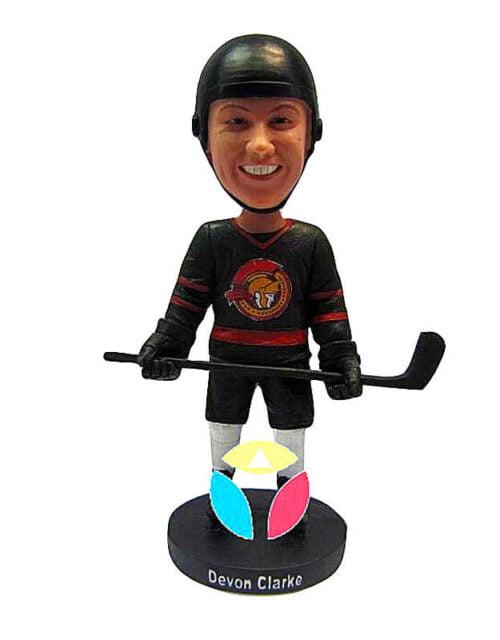 Custom Hockey Defender Bobbleheads