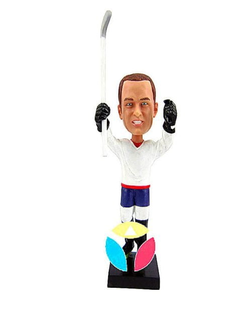 Hockey Player With Stick Bobbleheads