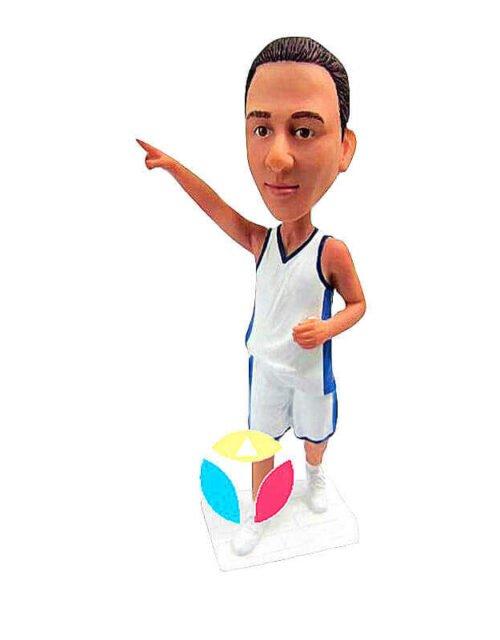 Custom Man Point Basketball Bobbleheads