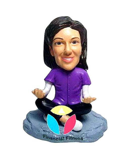 Custom Meditation Pose Bobbleheads