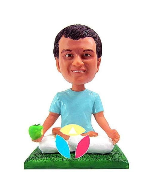 Custom Meditation Pose With Apple Bobbleheads