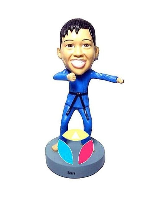 Custom Punching Fist Karate Bobblehead Doll