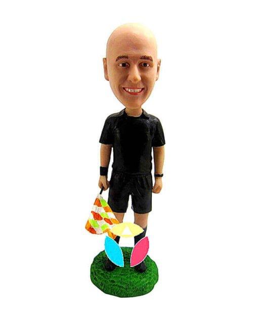 Custom Soccer referee Bobblehead