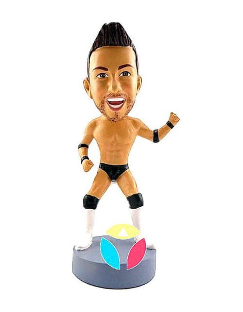 Custom WWE Champion Bobbleheads