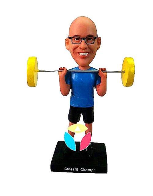 Custom Weight Lifting Bobbleheads