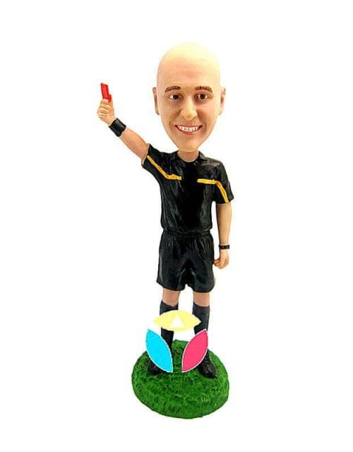 Custom referee Showing Red Card Bobbleheads
