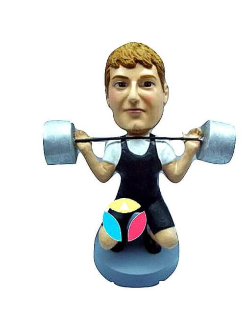 Sport Male In A Weight Lifting