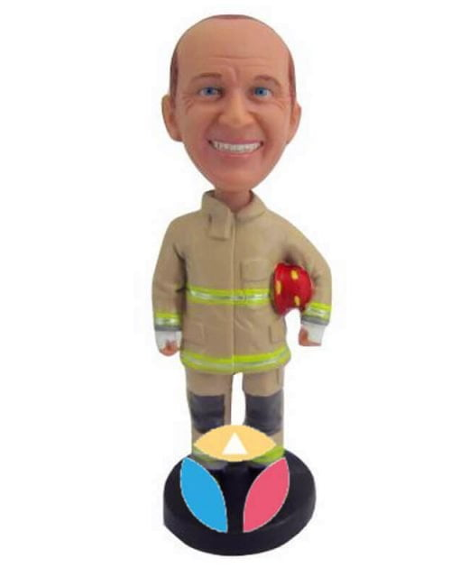 Customized Firefighter Bobblehead Doll