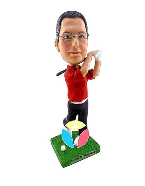 Customized Golfing Man With Club