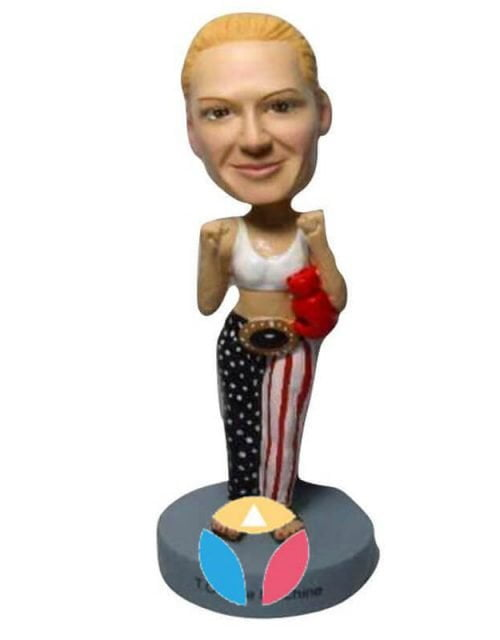 Female Fighter Custom Bobblehead Doll