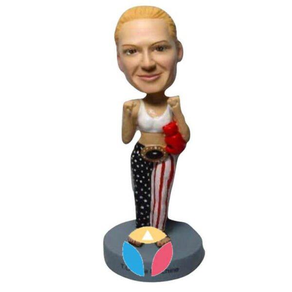 Female Fighter Custom Bobblehead Doll