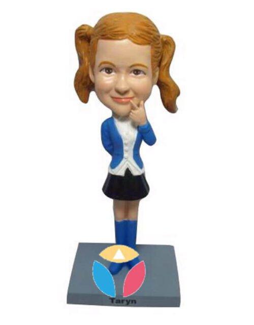 Girl Peace Sign Custom Bobblehead