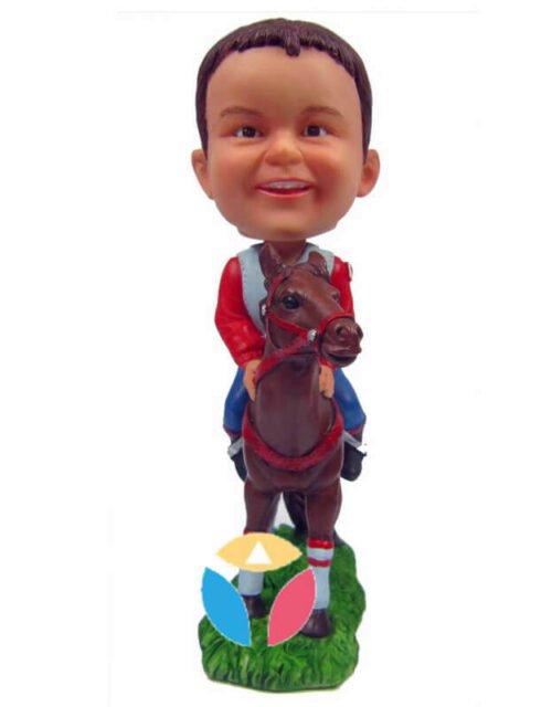 Kid on the horser custom bobblehead doll