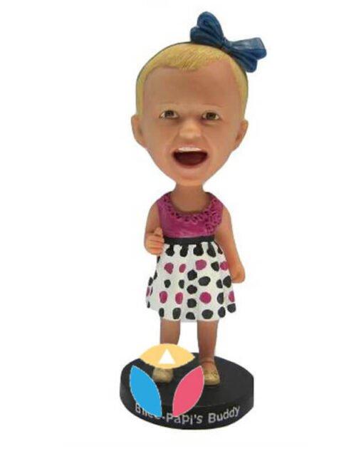 Little Baby In Dress Custom Bobbleheads