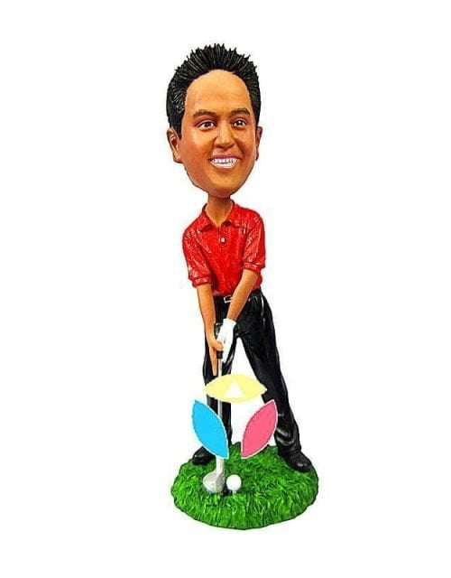 Make Your Own Playing Golf Bobbleheads
