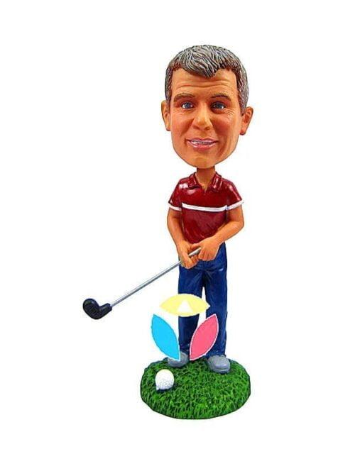 Male Golfer Custom Bobbleheads