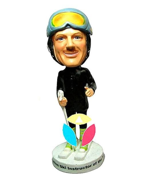 Male Skiing On Ice Bobbleheads