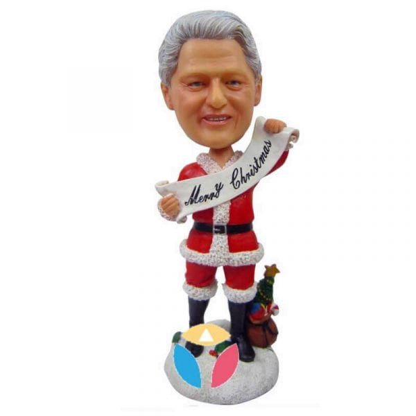 merry Christmas santa bobble head