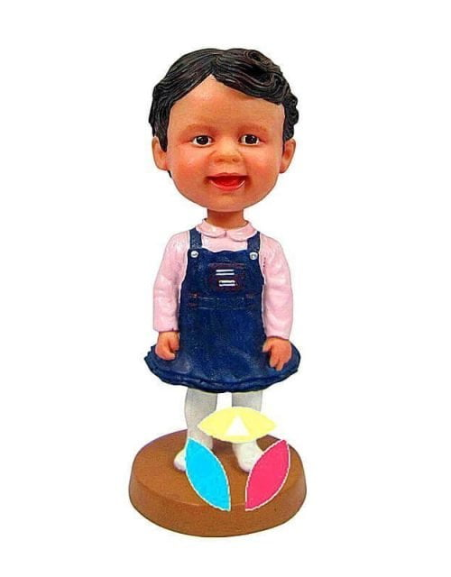 Personalized Blue Professional Dress Baby Bobblehead