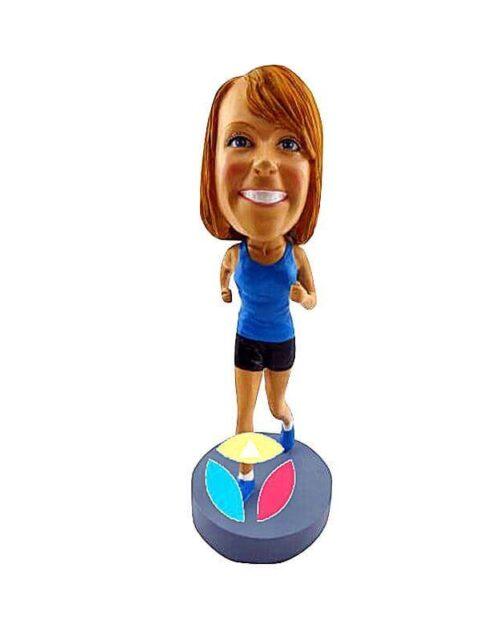 Personalized Female Runner Bobblehead Doll