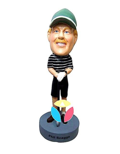 Personalized Golfer In Shorts Bobblehead