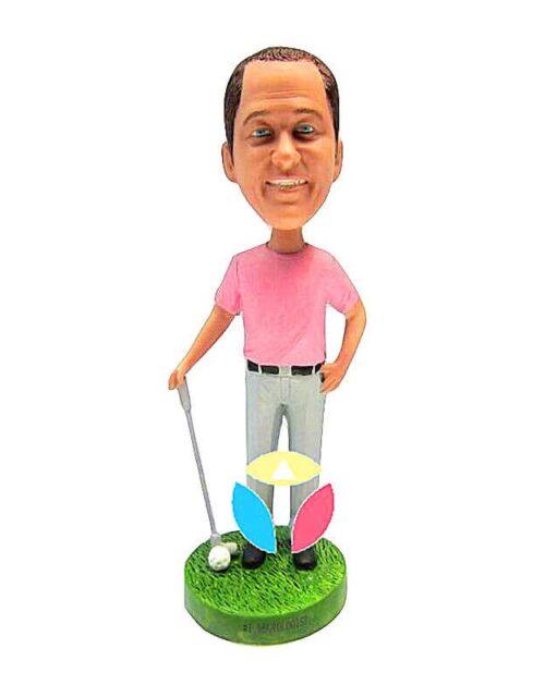 Personalized Male Golfer Bobblehead